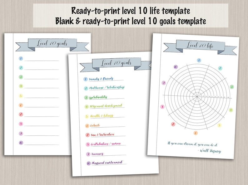 photograph relating to Level 10 Life Printable titled Bullet magazine printable position 10 daily life planner template - electronic PDF bujo bullet magazine web pages - bullet magazine place up wheel of everyday living