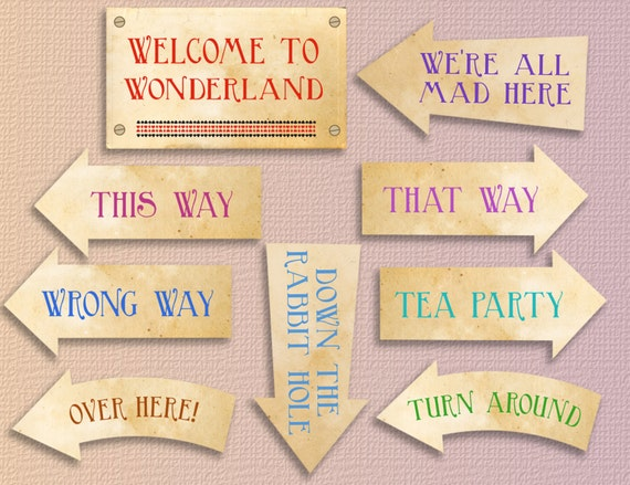 Alice In Wonderland Party Printables Alice In Wonderland Etsy