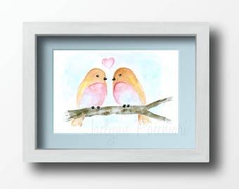 Love Birds -- 4x6 Print