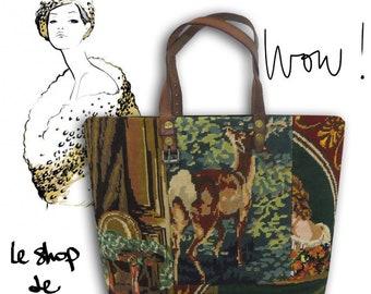 Canvas Shopping Bag, Tapestry Purse, Fragonard : Le Georgina
