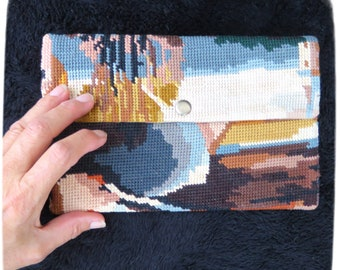 """Tapestry Cover for IPad Mini 7,9"""" with needlepoint, Protective Sleeve for tablet"""