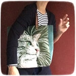 Tapestry Purse, Vintage Needlepoint, Nice Feline Cat