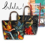 French Tapestry Purse, Canvas Handbag Gypsy, Birds with colors