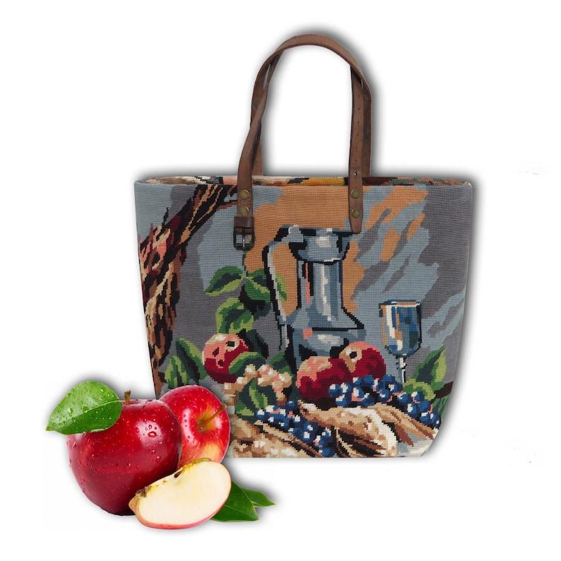 Tote bag French Tapestry Purse Canvas Handbag Still life image 0