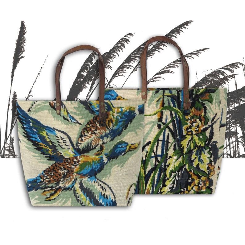 Tapestry Tote Canvas Handbag Wild Nature Wild ducks image 0