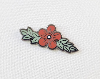 Flower Enamel Pin, Hard Enamel Pin, Lapel Pin, Floral Accessory, Nature Pin, Gifts For Women