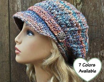 35b5e86847a Crochet Newsboy Hat