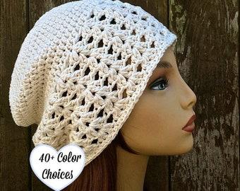 8535e1c4a77 Lacy Cotton Slouchy Hat