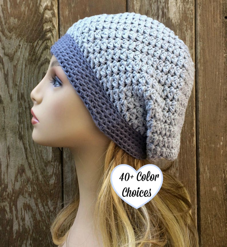 Soft Cotton Slouchy Crochet Slouch Hat Summer Chemo Hat Etsy