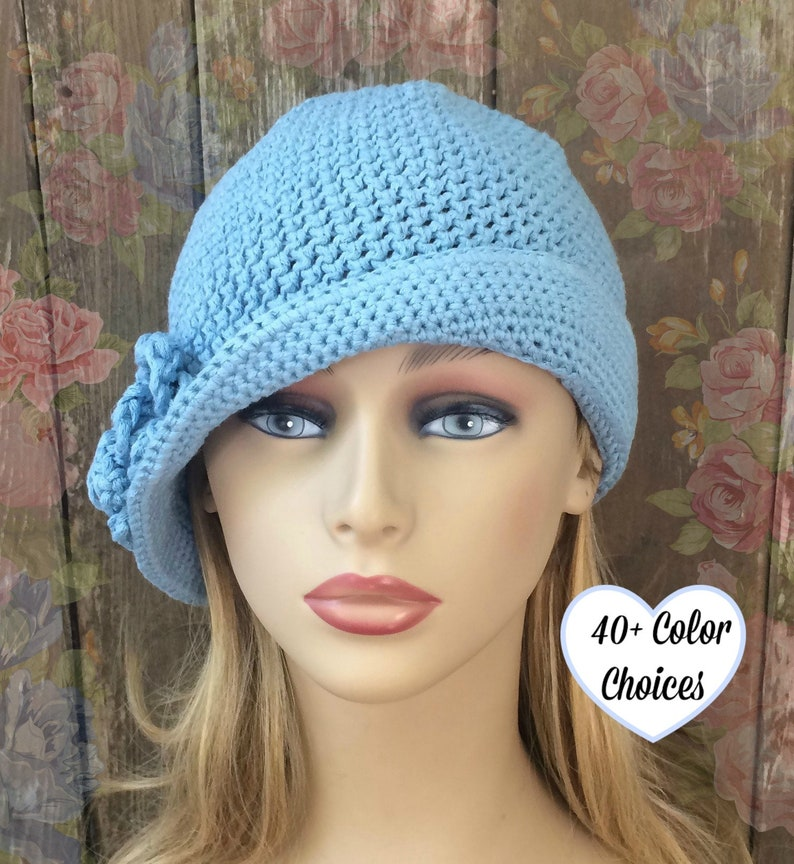 8e31a4ca02b Cotton Cloche Hat With Ruffle Brimmed Hat Chemo Summer Hat