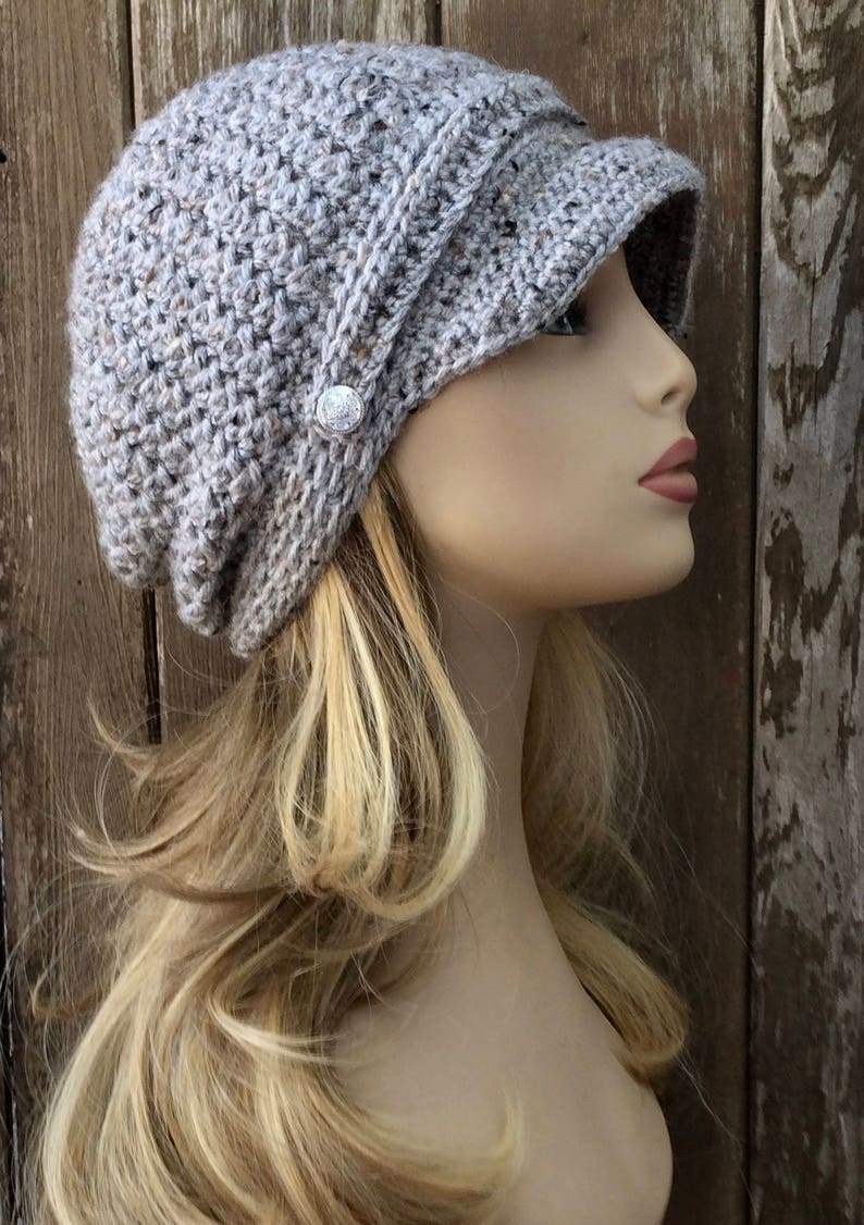 16 Colors Newsboy with Buttons Womens Winter Hat Visor  3181869df9fa