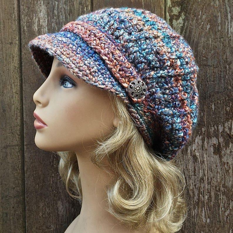 11361efcbc1 Soft Warm Newsboy Hat Chemo Hat Womens Winter Newsboy Soft