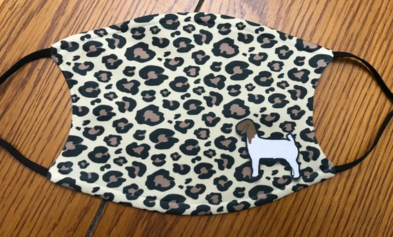 Large leopard print  livestock show mask