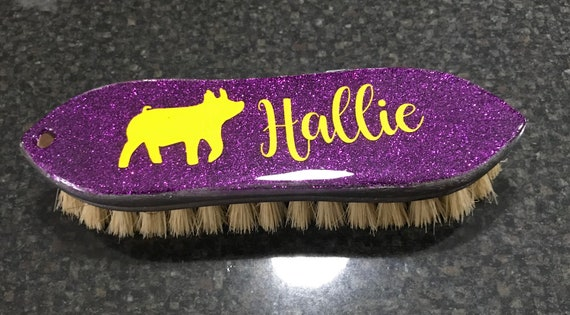 Ringmaster Glitter Show Brush with custom lettering