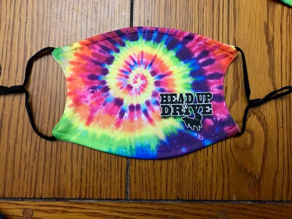 Small/youth tye dye head up and drive livestock show mask