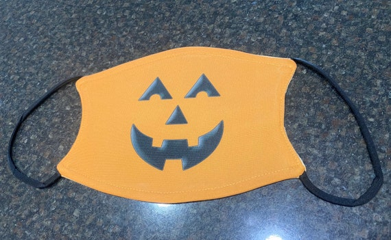 Small/youth Pumpkin face mask