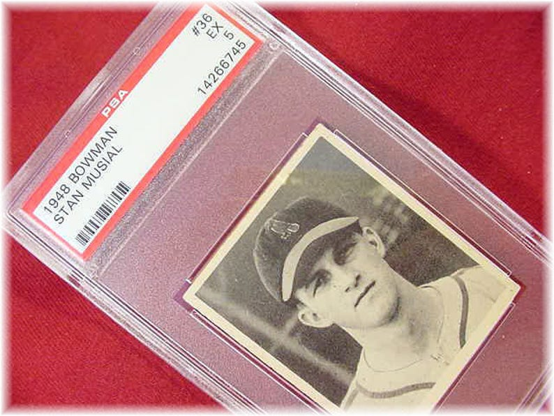 1948 Bowman Baseball Card Stan Musial Rookie Authentic Rare 36 Psa Ex 5 Excellent Centering St Louis Cardinals Free Shipping