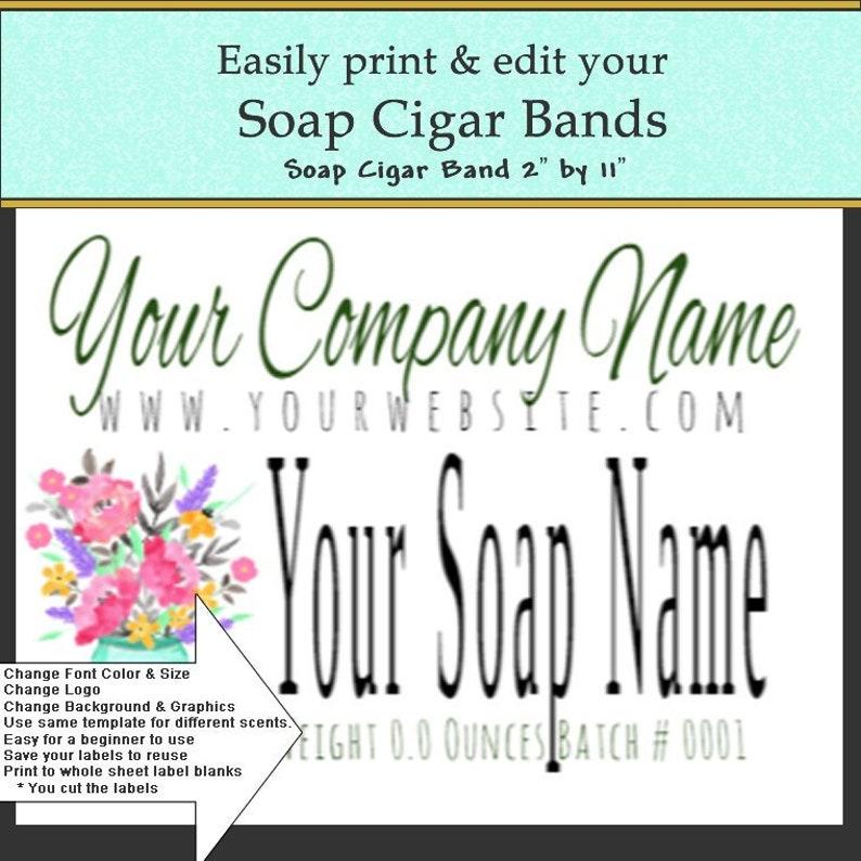 Soap Label, Soap Cigar Band, DIY Soap Label, DIY Print Label, Label  Template, DIY Edit Label, Do it Yourself, Print your soap label easily