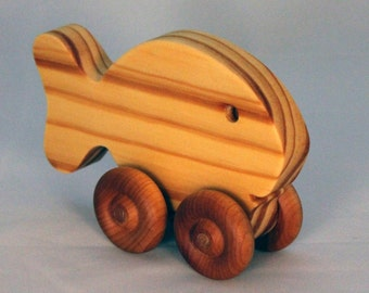 Wooden Toy Goldfish - Child Safe, Handcrafted from Reclaimed Wood, Eco-friendly by GiggleTree Toys