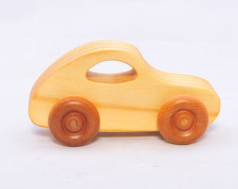 Wooden Vintage Style Coupe - Child Safe, Handcrafted from Reclaimed Pine, Eco-friendly by GiggleTree Toys