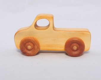 Wooden Vintage Style Pickup Truck - Child Safe, Handcrafted from Reclaimed Pine, Eco-friendly by GiggleTree Toys
