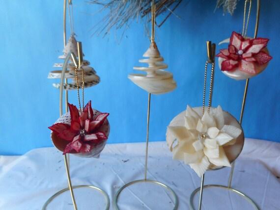 Holiday Coastal Ornament Trochus Shells Decor Seashell Ornaments