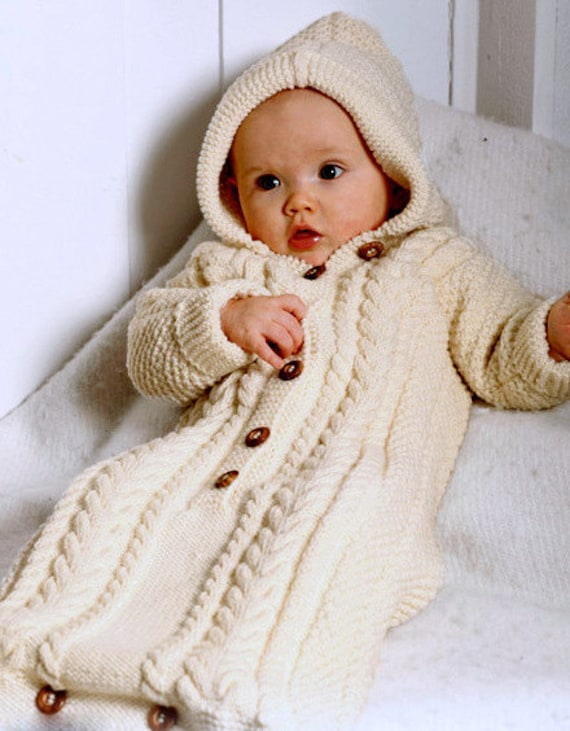 Knitting Pattern Baby Bunting Sleeping Bag Cocoon Sleep Sack Etsy
