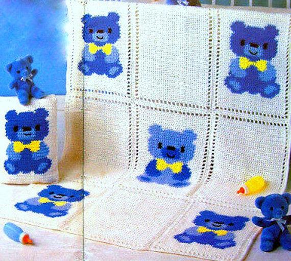 Crochet Bear Pattern Printable Crochet Pillow Pattern Crochet ... | 511x570