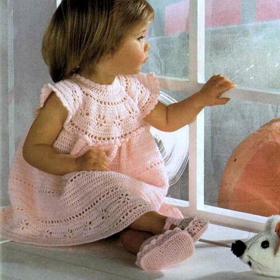 Vintage Crochet Pattern  PDF Baby Girls Cinderella Summer