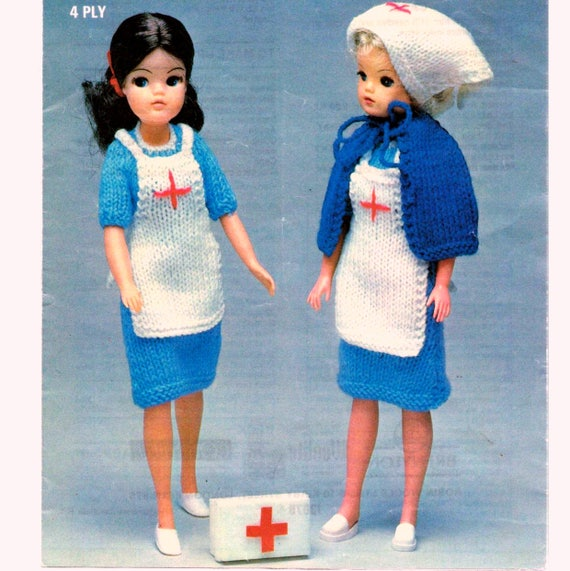 Almost Free Vintage Knitting Pattern Pdf Fashion Doll Nurse Etsy