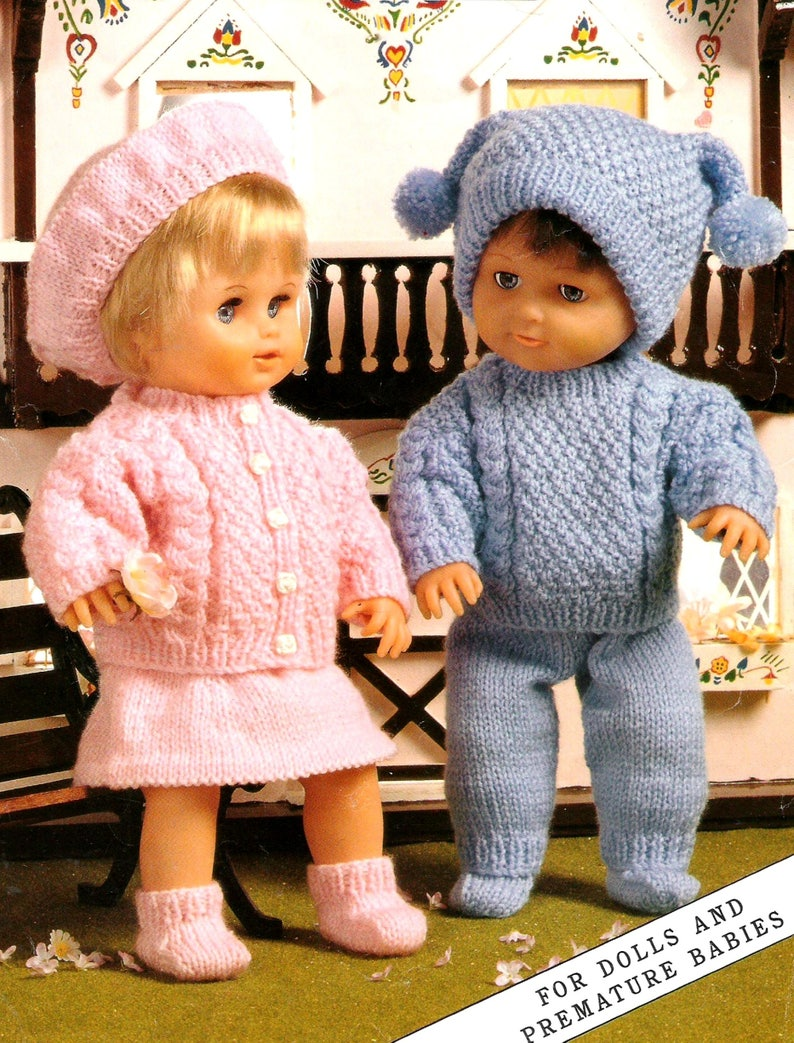 f18e12235d89 Vintage Knitting Pattern PDF Boy and Girl Dolls Clothes Jacket