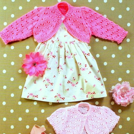 Vintage Knitting Pattern Pdf Baby And Childrens Bolero Shrug Etsy