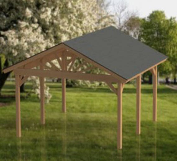Gable Roof Gazebo Building Plans 16 X16 Perfect For Spas