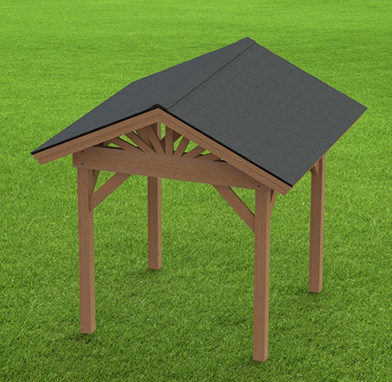 Gable Roof Plans: Gable Roof Gazebo Building Plans 8'x8' Perfect For