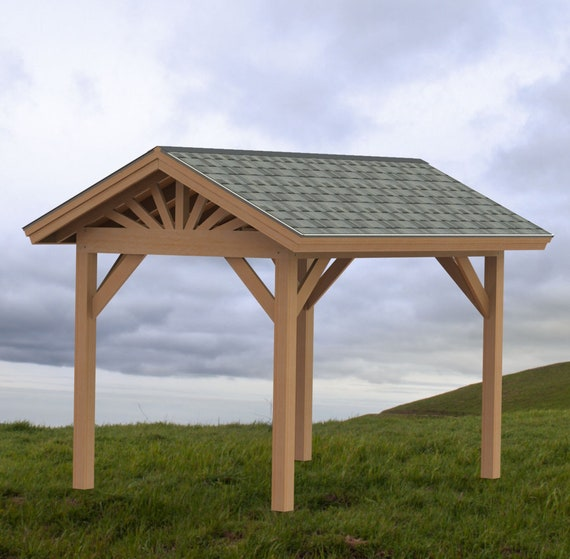 Gable Roof Plans: Gable Roof Gazebo Building Plans 8'x12' Perfect For