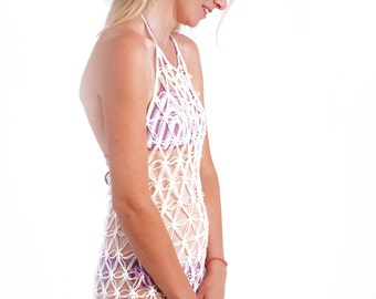 eea1c2417809 Lingerie crochet dress backless beach cover uperotic