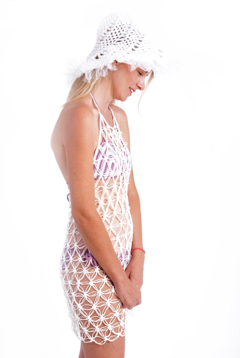 aed5cb97ed50 Fishnet dress crochet dress mesh beach cover uperotic