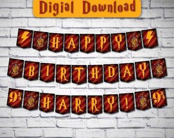 Harry Potter Banner Hogwarts Printable Gryffindor