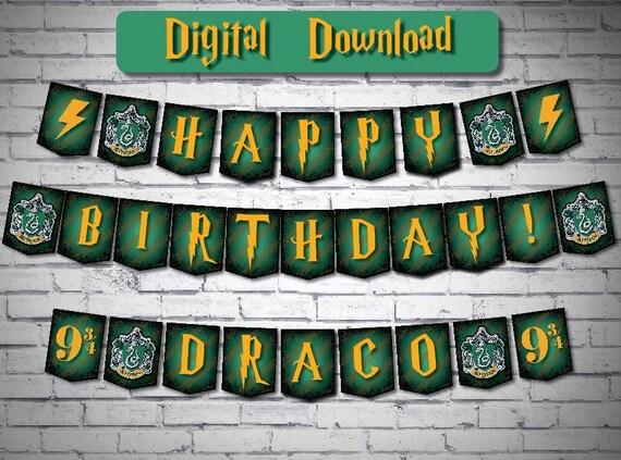 Hogwarts Banner Printable Harry Potter Slytherin Crest