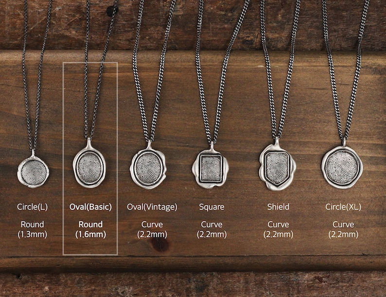 Basic Thumb Print Necklace Memorial Necklace Personalized Oval Finger Jewelry Silver Finger Custom Finger Print