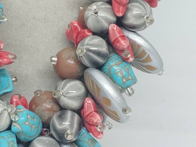 Statement Necklace Beach Necklace Buddha Necklace Bib Necklace Multicolored Necklace One Of A Kind Necklace Star Fish Necklace