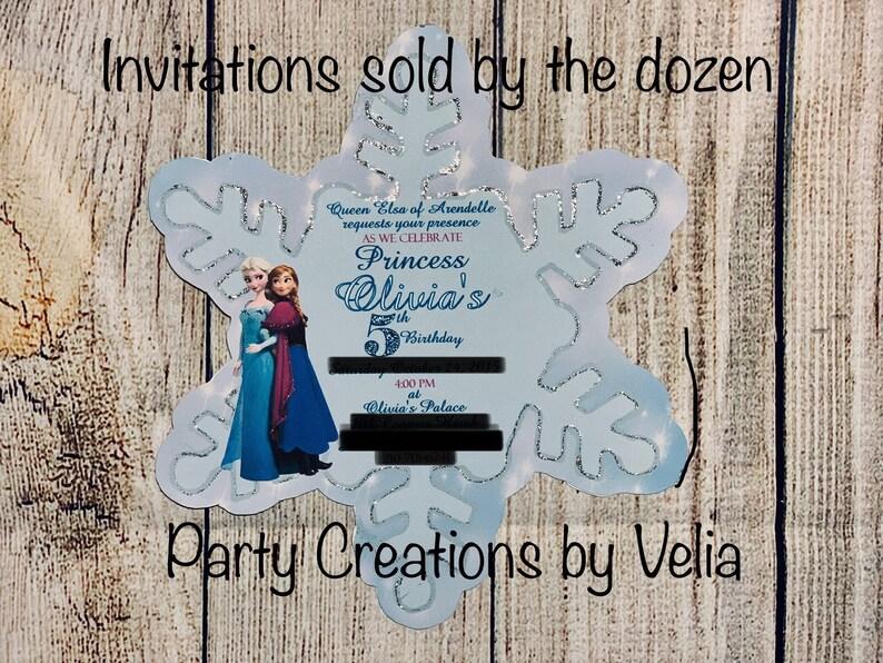Disney Frozen Invitations