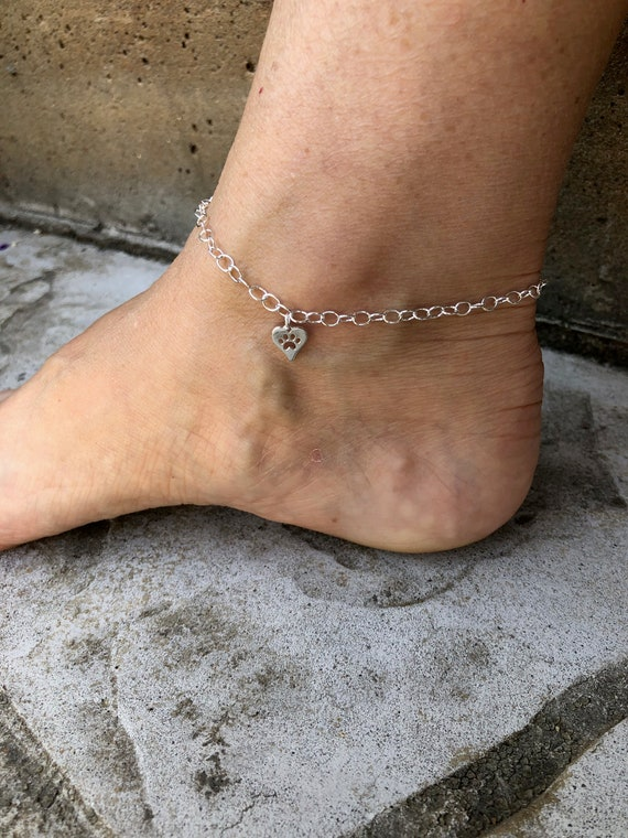 925 Sterling Silver Imprint Feet in the Sand Charm Made in USA