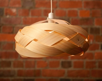 Braid - wood veneer light shade