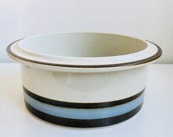 "Big heavy and solid oven dishe/ container -Vintage Arabia Finland ceramic named ""Suvanto"" designed by Raija Uosikkinen /Ulla Procope, 1980"