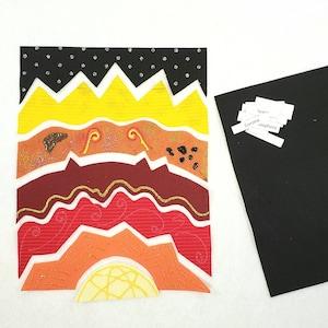 montessori sun layers puzzle sun unit study Twig Daisy homeschool geography Layers of the Sun felt board set Sun layers felt