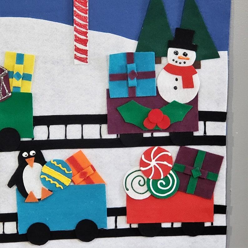 Christmas train felt set Santa train felt set Felt Christmas train Train felt set Christmas felt board Christmas train felt board