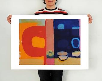 Large Abstract Art Print Still Life