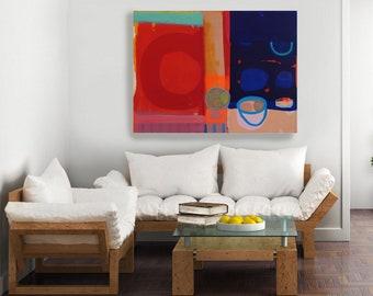 Large Living Room Art Still Life Painting 'Summer Fruits #3'