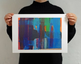 Blue Abstract Art Print Giclee - Art for Home